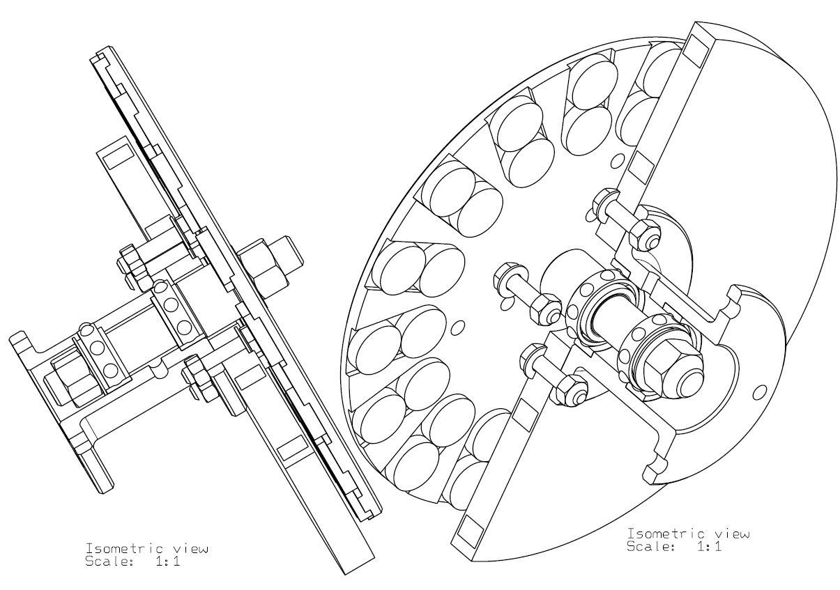 Generator axial monofazat