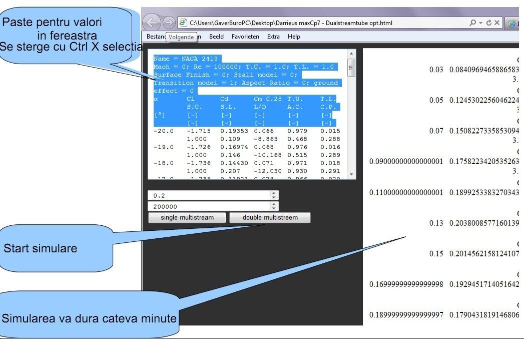 simulare profil aerodinamic